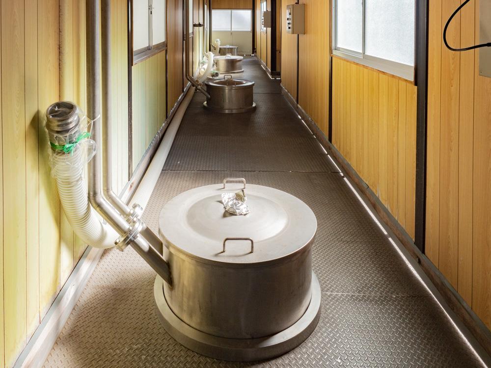 平喜酒造:黎明蔵 仕込みタンク上部