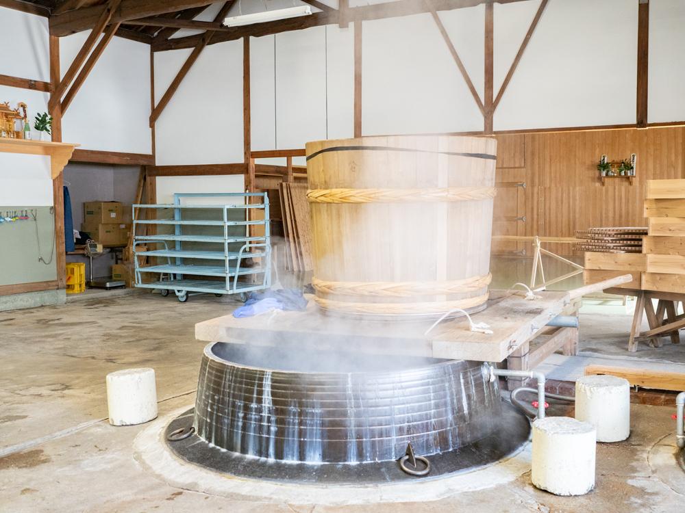 平喜酒造:蒸し米所