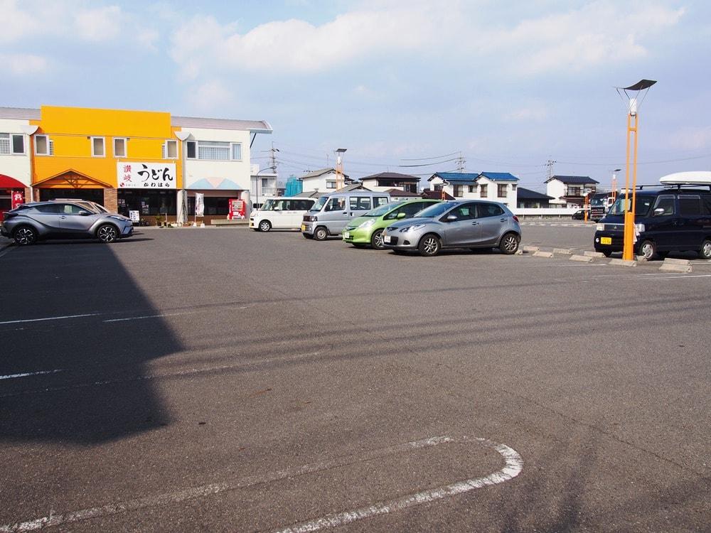 入道雲 駐車場