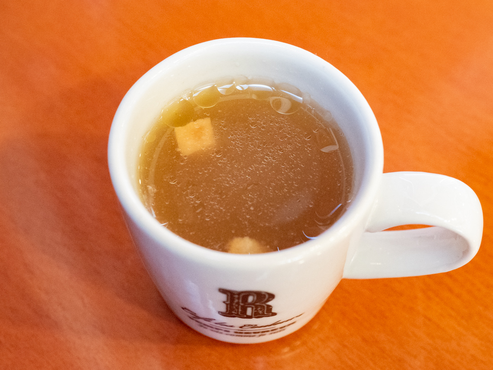 アシェット:カツサンドモーニングのスープ