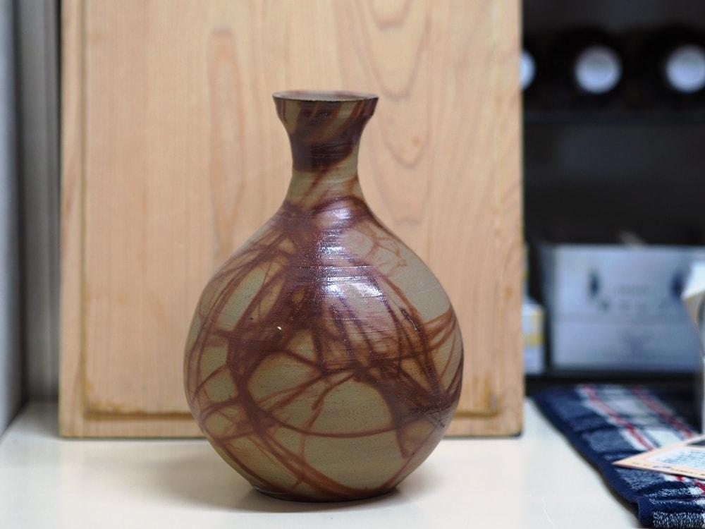 島村さんが作った備前焼の花瓶