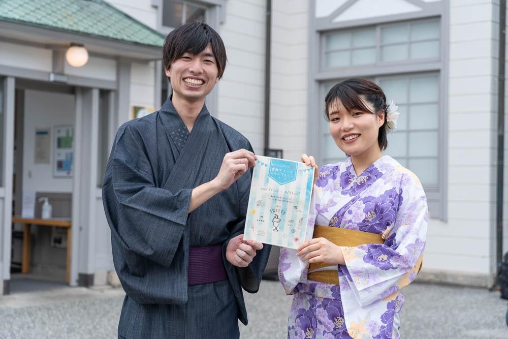倉敷美観地区浴衣デート 夏のひんや〜り倉敷スイーツ
