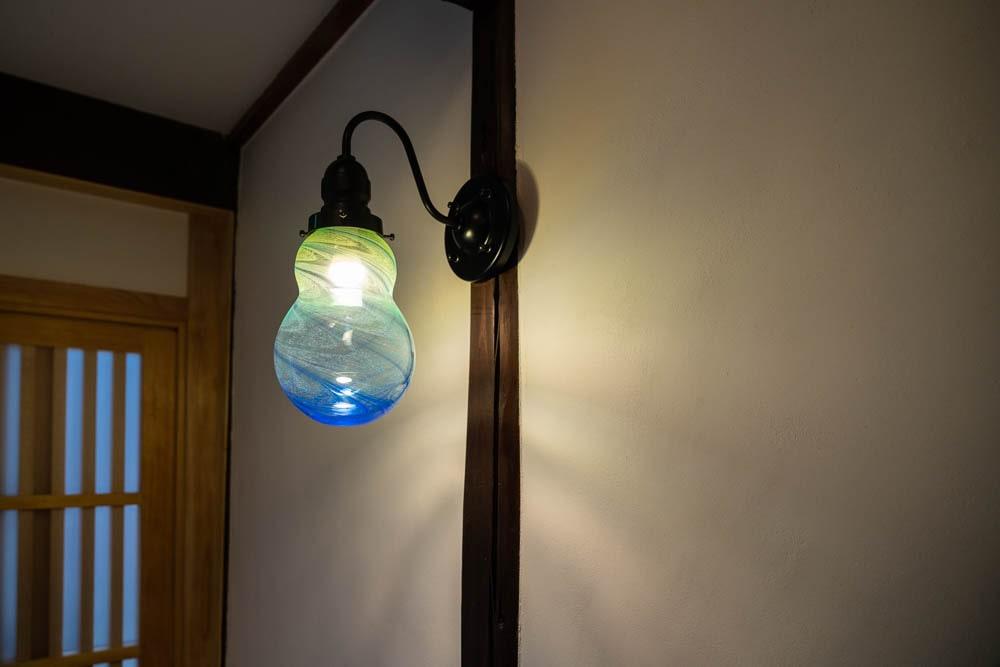 くらしきカワセミ亭 ぐらすたTOMOのランプシェード