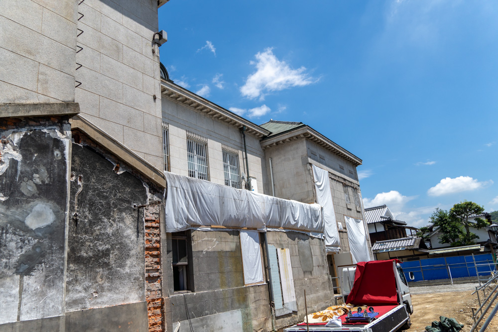 解体後の建物南側鉄骨造棟