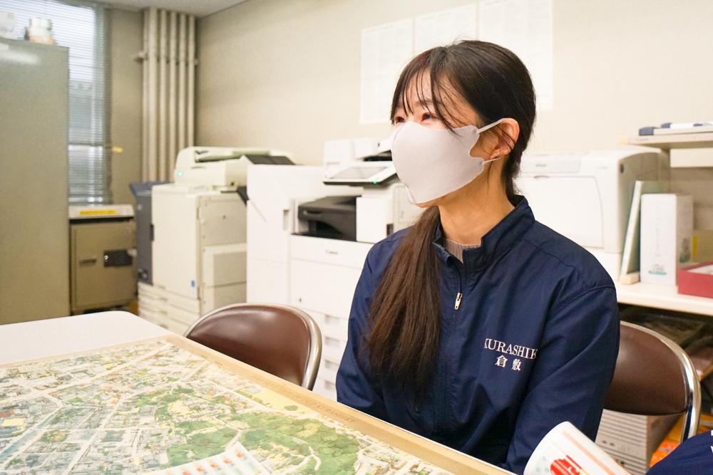 倉敷コンベンションビューローのイベント担当者 インタビュー風景