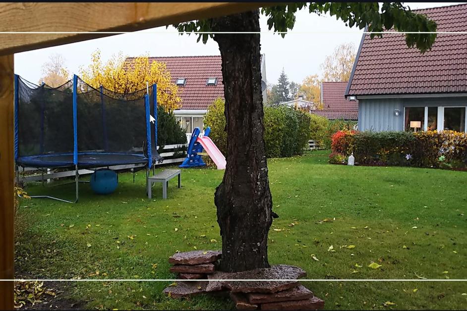 北欧家庭屋外トランポリン