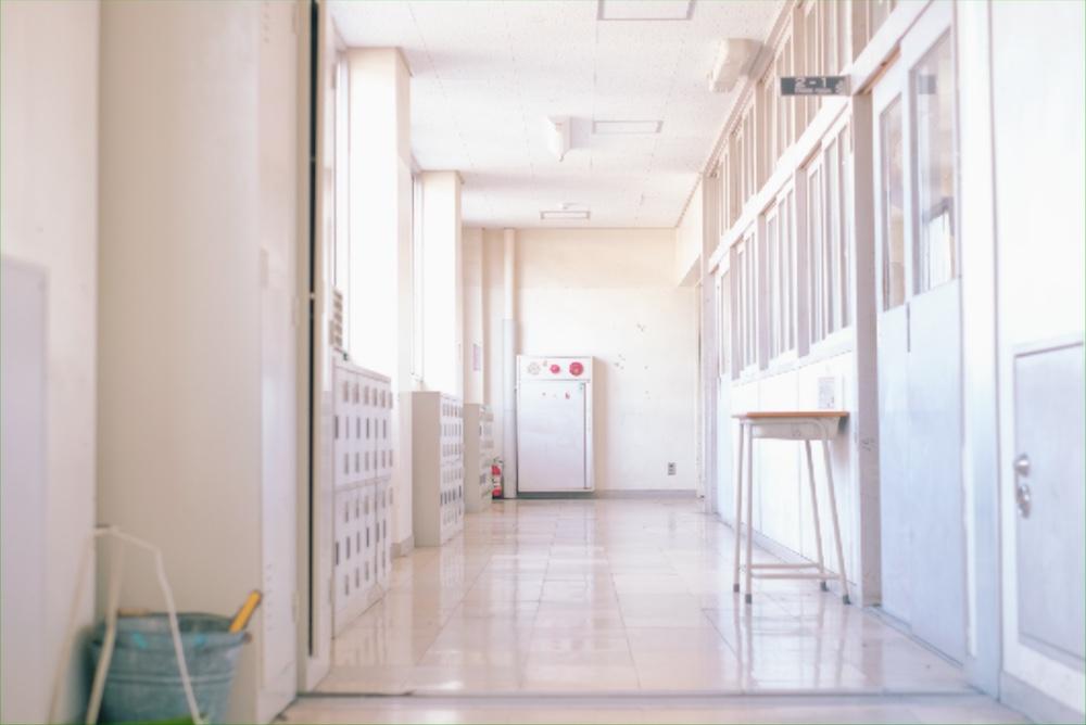 倉敷鷲羽高校 廊下
