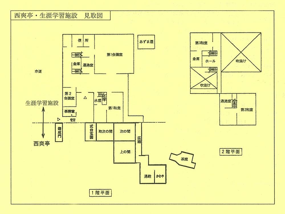旧柚木家住宅 館内見取り図