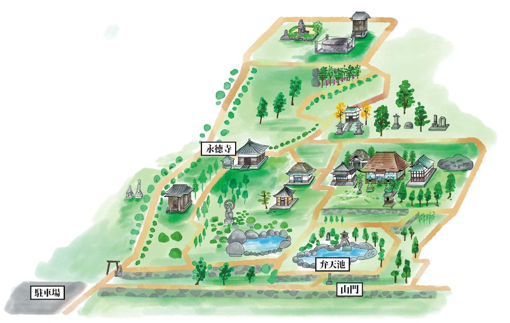 円通寺:境内図
