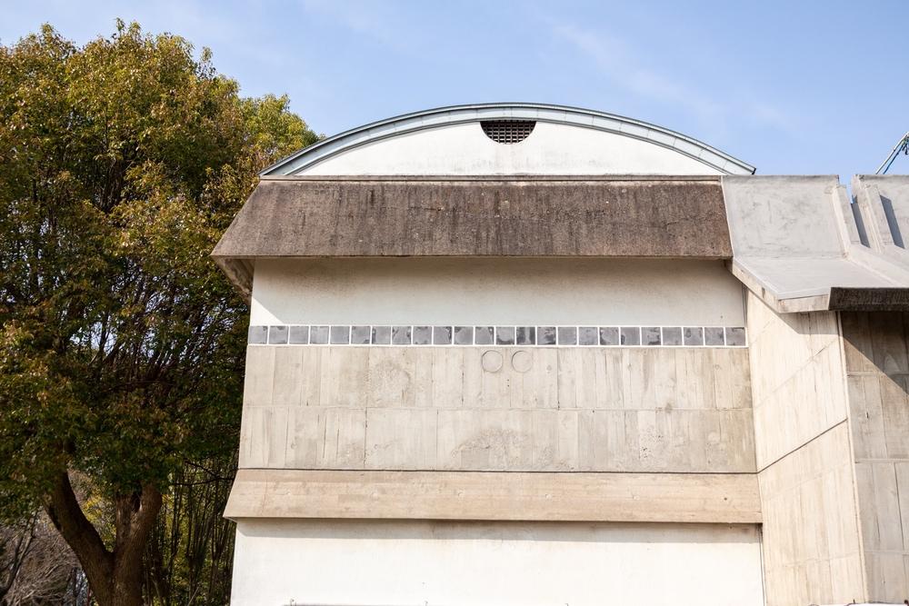倉敷ユースホステルの外壁