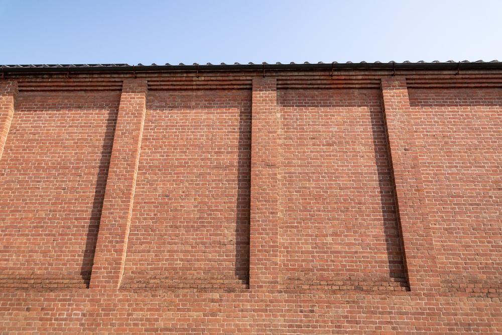 倉敷アイビースクエアのレンガ壁