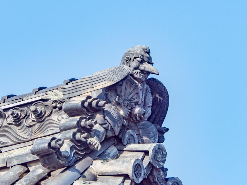 羽黒神社:拝殿 からす天狗