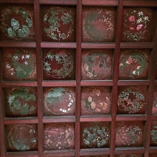 羽黒神社:拝殿 格天井