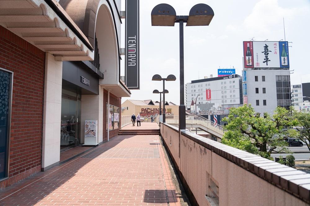 倉敷駅北口から倉敷美観地区・商店街方面へ