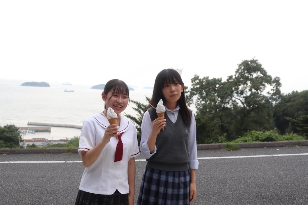 倉敷鷲羽高校と高梁城南高校の生徒がコラボで作ったブルーベリージェラート