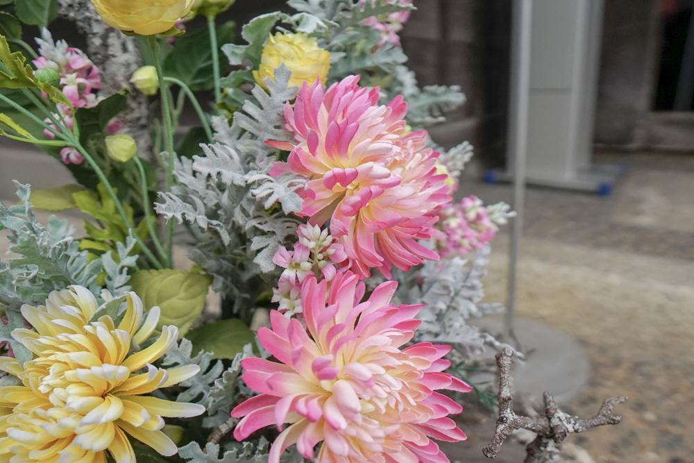 大原本邸の入り口に飾られていた花1