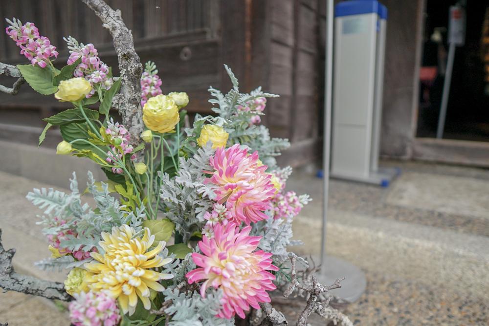 大原本邸の入り口に飾られていた花2